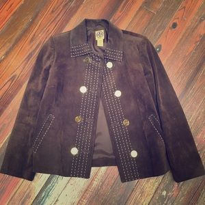 Tory Burch suede leather jacket sz 6